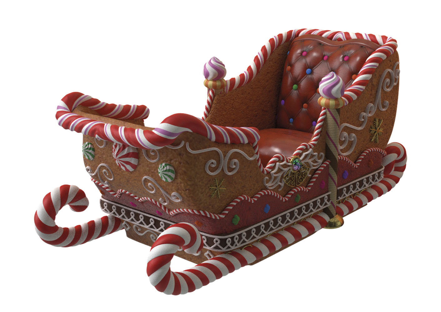 GINGERBREAD SLEIGH 4 SEATER
