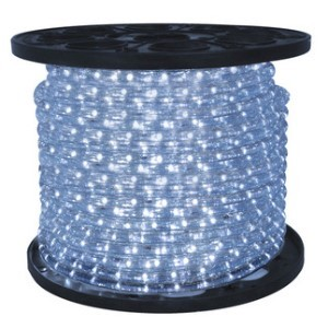 10MM 150' Spool of Pure White LED Ropelight