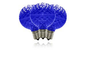 G50-RETRO-BL - G50 Non-dimmable Blue Commercial  Retrofit bulb with an E17 base and 5 Internal LED Chips