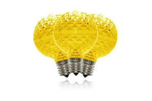 G50 Non-Dimmable Gold Commercial Retrofit Bulb with an E17 Base and 5 Internal LED Chips