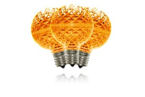 G50-RETRO-OR - G50 Non-dimmable Orange Commercial  Retrofit bulb with an E17 base and 5 Internal LED Chip
