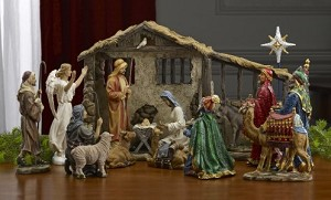 "TK-NAT-10-DLX-16 - Deluxe 16 piece Real Life 10"" Nativity Set"