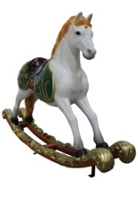 5' Toy Rocking Horse with Blonde Mane