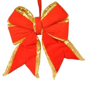 "WL-BOW-12-RE/GO - 12"" Red with Gold Trim Bow"