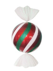 3.5' Red, White and Green Peppermint Candy