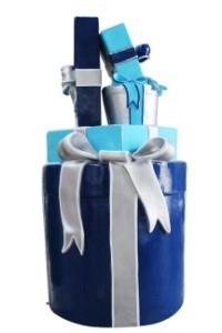 Gift Stack, Blue, Aqua and Silver, Arctic Collection D