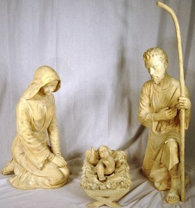 "38"" Tall 3 Piece Natural Holy Family"