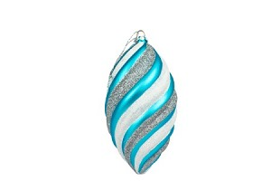 "WL-ORN-06-AQSV - 6"" Arctic Ornament Collection Aqua and Silver"