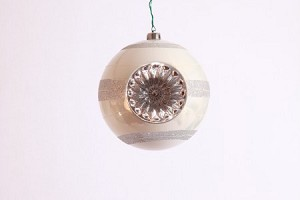 White and Silver Ball Ornament