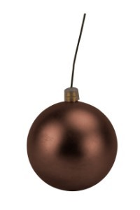 100mm Brown Matte Ball Ornament with Wire and UV Coating