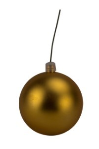 WL-ORN-BLKM-60-GO-UV - 60mm Matte gold ball ornament with wire and UV Coating