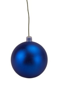 80mm 3' Matte Blue Ball Ornament with Wire and UV Coating