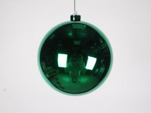 140mm 5.5' Shiny Green Ball Ornament with Wire and UV Coating