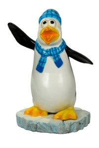 Skipper The Funny Penguin With A Blue Scarf