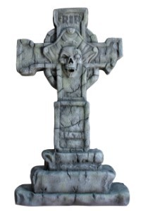 3.5' Captain Pirate Cross Tombstone