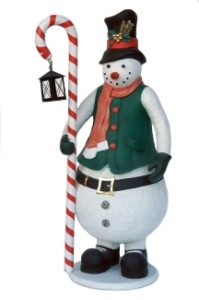 72' Snowman Holding Candy Cane Lantern
