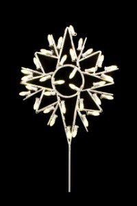 WL-STAR-TOP-BETH-03-LWW - 3' Bethlehem Star Tree Topper  lit with LED warm white Lights