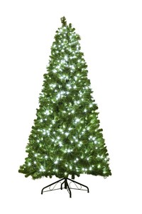 WL-TRBM-09-LPW - 9' Mixed Blended Pine Pre-Lit Tree with LED Pure White Lights