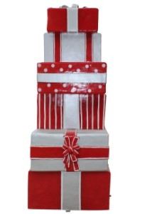 Stack of Gifts, Red and Silver, Candy Collection A