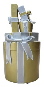 Gift Stack, Gold, Silver and White, Treasure Collection D
