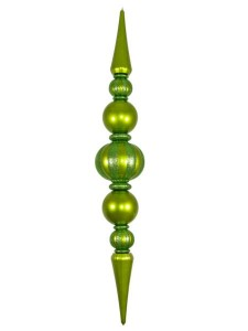 Giant Shatterproof Lime Green Finial