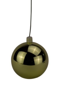 60mm Shiny Gold Ball Ornament with Wire and UV Coating