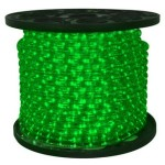 10MM 150' Green LED Ropelight 2 Wire 12 Volt