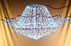 Chandlier Motif Display with Pure White LEDs