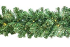 9' Pine Garland Pre-Lit with LED Warm White LED Lights