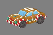 4' Gingerbread Car Cookie