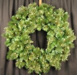 3' Mixed Blend Wreath Pre-Lit with Warm White LED Lights