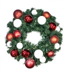 3' Pre-Lit Warm White LEDS Sequoia Wreath Decorated with The Candy Ornament Collection