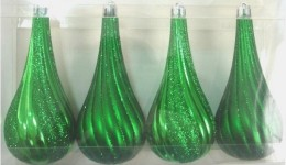 Green Tear Drop 4 pack