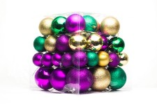 Green, Purple and Gold Ball Ornaments, 62PC
