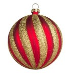 Red & Gold Christmas Ornaments
