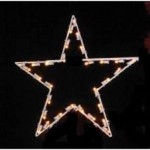 4' Commercial grade  5 point star, lit with LED warm white lights