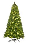 9' Mixed Blended Pine Tree Pre-Lit with Warm White LED Lights