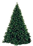 12' Artificial Natural Looking Tree Pre-Lit with Warm White LEDs on a Metal Stand