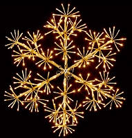 4' GOLD SNOWFLAKE WALL MOUNT WARM WHITE LEDS