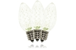C7 Dimmable Faceted Warm White LED Retrofit Lamp with 5 Internal LEDs and an E12 Base