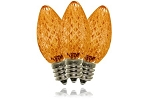 C7 Faceted Orange LED Retrofit Lamp with 5 Internal LEDs and an E12 Base