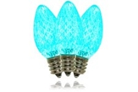 C9 Faceted Teal LED Retrofit Lamp