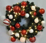 2' Blended Pine Wreath Decorated with The Candy Ornament Collection
