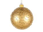 120MM Gold Ornament Ball with Gold Glitter Design