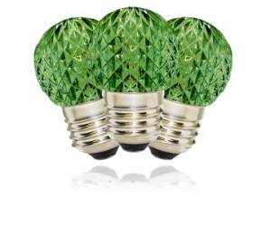 G40 Non-Dimmable Green Commercial Retrofit Bulb with an E26 Base and 10 Internal LED Chips