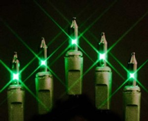50 Green Incandescent Mini Lights 6