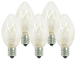 C7 Dimmable Incandescent Clear Bulbs E12 Base