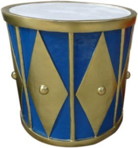 2' Gold and Blue Drum