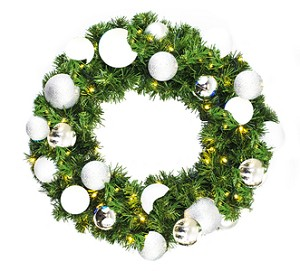 2' Sequoia Pine Wreath with The Iceland Ornament Collection