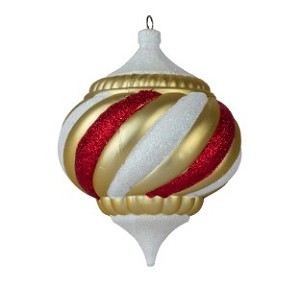 WL-ONION-150-TRSR - 150MM Onion Ornament Treasure Collection Gold White and Red